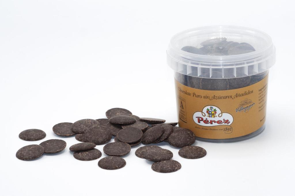 Comprar tarrina de gotas de chocolate negro (sin azúcares añadidos) 61% Cacao