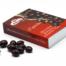 Caja de almendras bañadas con chocolate negro