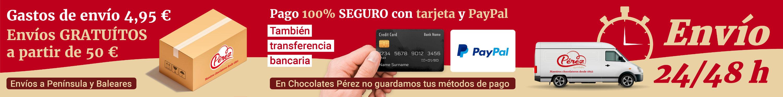 Gastos de envío 4,95 €. Envíos GRATUÍTOS a partir de 50 €. Pago 100% SEGURO con tarjeta y PayPal. Envío 24/48 horas
